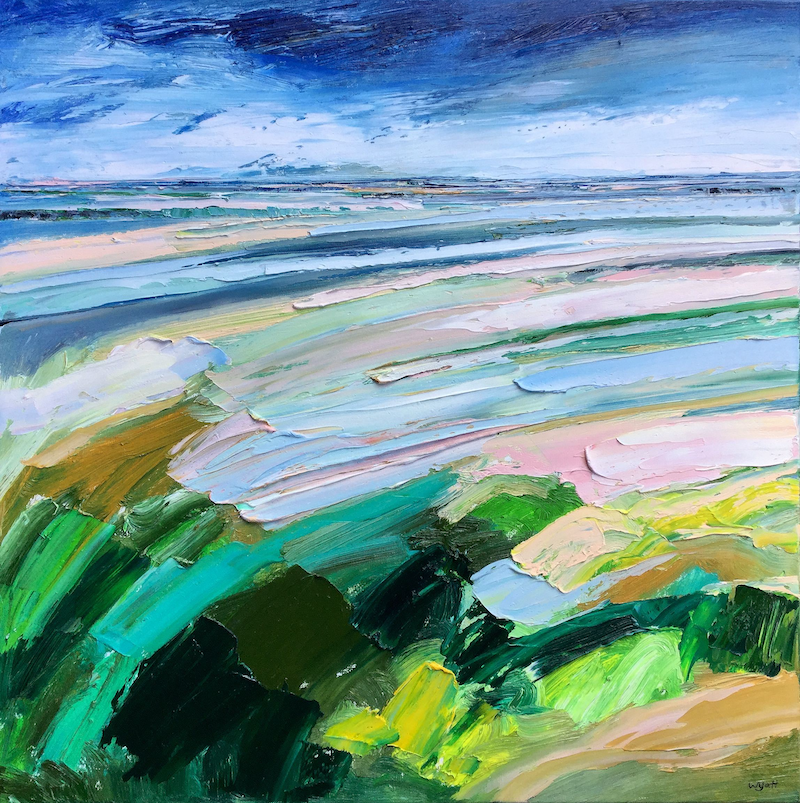 (CreativeWork) Drift by Katie Wyatt. oil-painting. Shop online at Bluethumb.