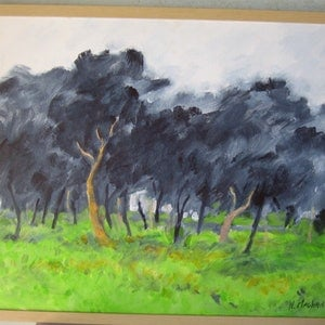 "(CreativeWork) ""Rainy Tuesday"" by Noeline Machan. acrylic-painting. Shop online at Bluethumb."
