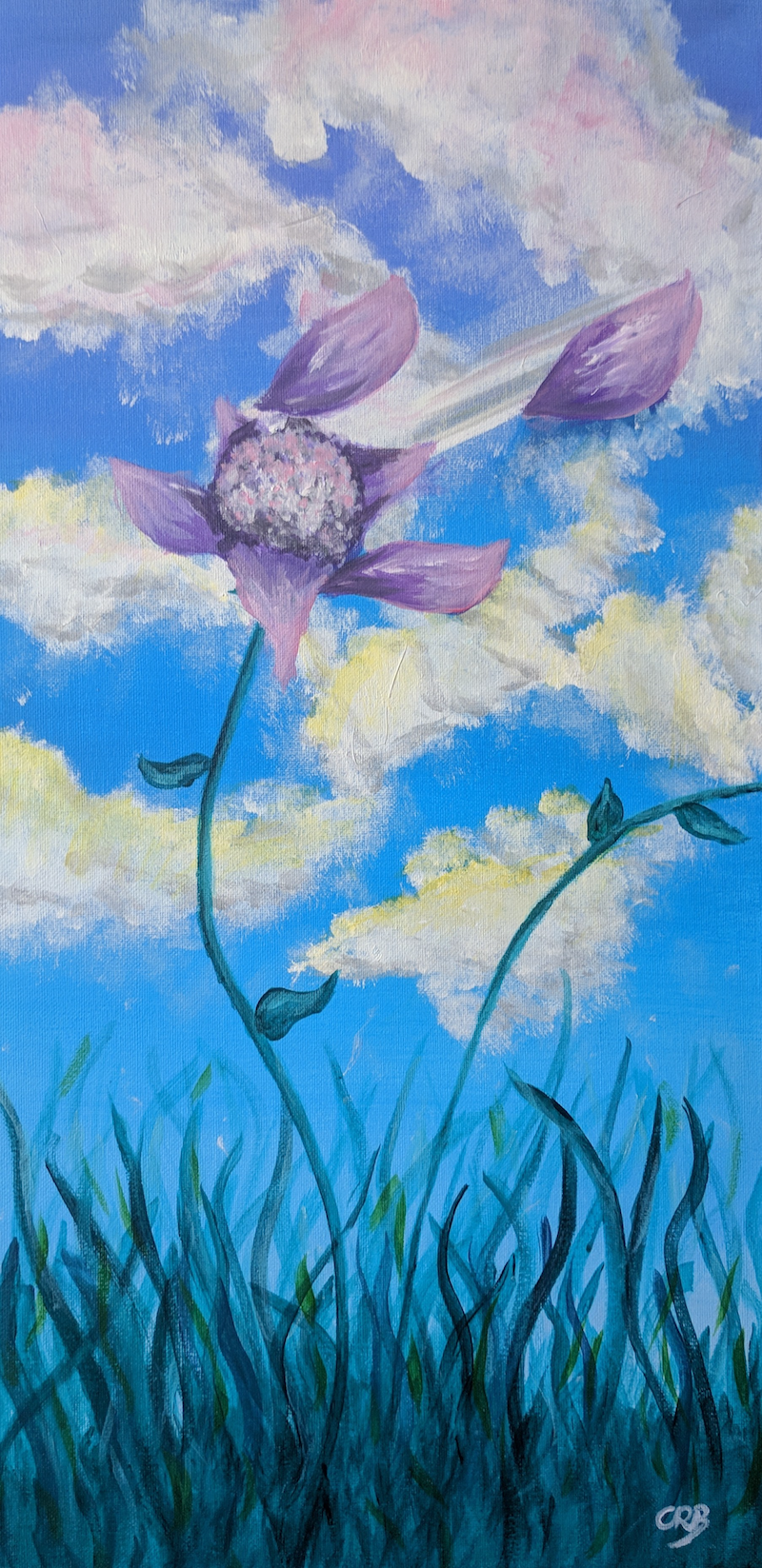 (CreativeWork) Floating in the Breeze by Cara Renee Binding. arcylic-painting. Shop online at Bluethumb.
