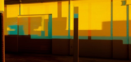 (CreativeWork) Mondrian Carwash by Alex Frayne. photograph. Shop online at Bluethumb.