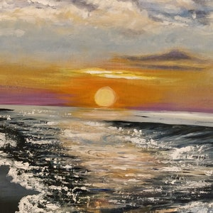 (CreativeWork) The Sunset by Sevda Amini. arcylic-painting. Shop online at Bluethumb.