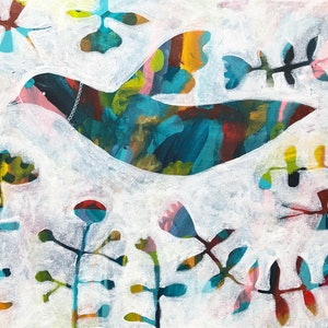 (CreativeWork) Flight by Jess Racklyeft. arcylic-painting. Shop online at Bluethumb.