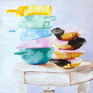 (CreativeWork) Sugar Sugar by Susanne Latimore. oil-painting. Shop online at Bluethumb.