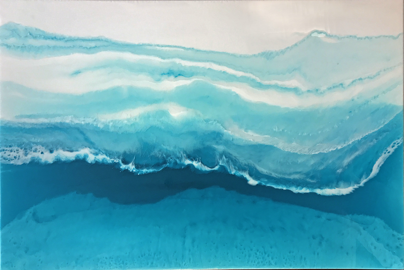 (CreativeWork) Shadow of the Wave by Martine Vanderspuy. resin. Shop online at Bluethumb.
