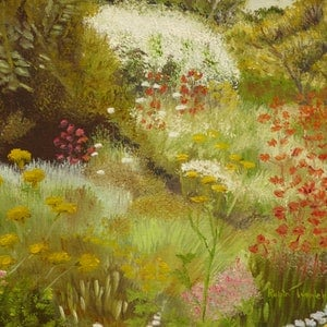 (CreativeWork) WA Wildflowers 2 by Robin Tunnicliffe. oil-painting. Shop online at Bluethumb.