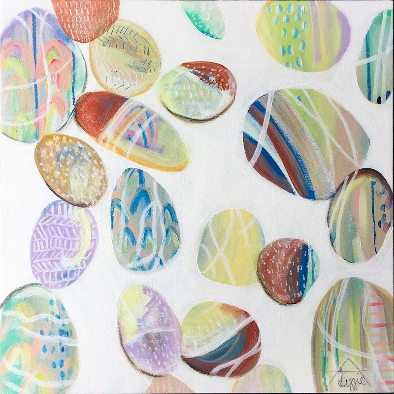 (CreativeWork) Pebble Study  by Lizzie Alsop. other-media. Shop online at Bluethumb.