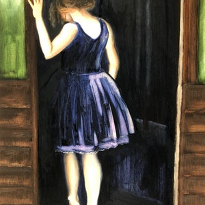 (CreativeWork) Into the dark by Susanne Latimore. oil-painting. Shop online at Bluethumb.
