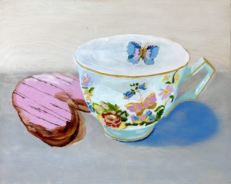 (CreativeWork) Sweet Tea by Susanne Latimore. oil-painting. Shop online at Bluethumb.