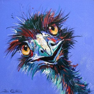 (CreativeWork) Emu 31 by Jos Coufreur. arcylic-painting. Shop online at Bluethumb.