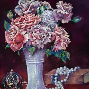 (CreativeWork) Petals & Pearls by Helen Miles. other-media. Shop online at Bluethumb.