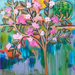 (CreativeWork) Blossom by Sandra Oost. arcylic-painting. Shop online at Bluethumb.