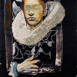 (CreativeWork) A Modern Man by Sarah Smith. mixed-media. Shop online at Bluethumb.