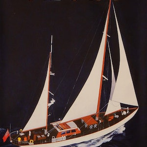 (CreativeWork) Yacht by Lance Ross. acrylic-painting. Shop online at Bluethumb.