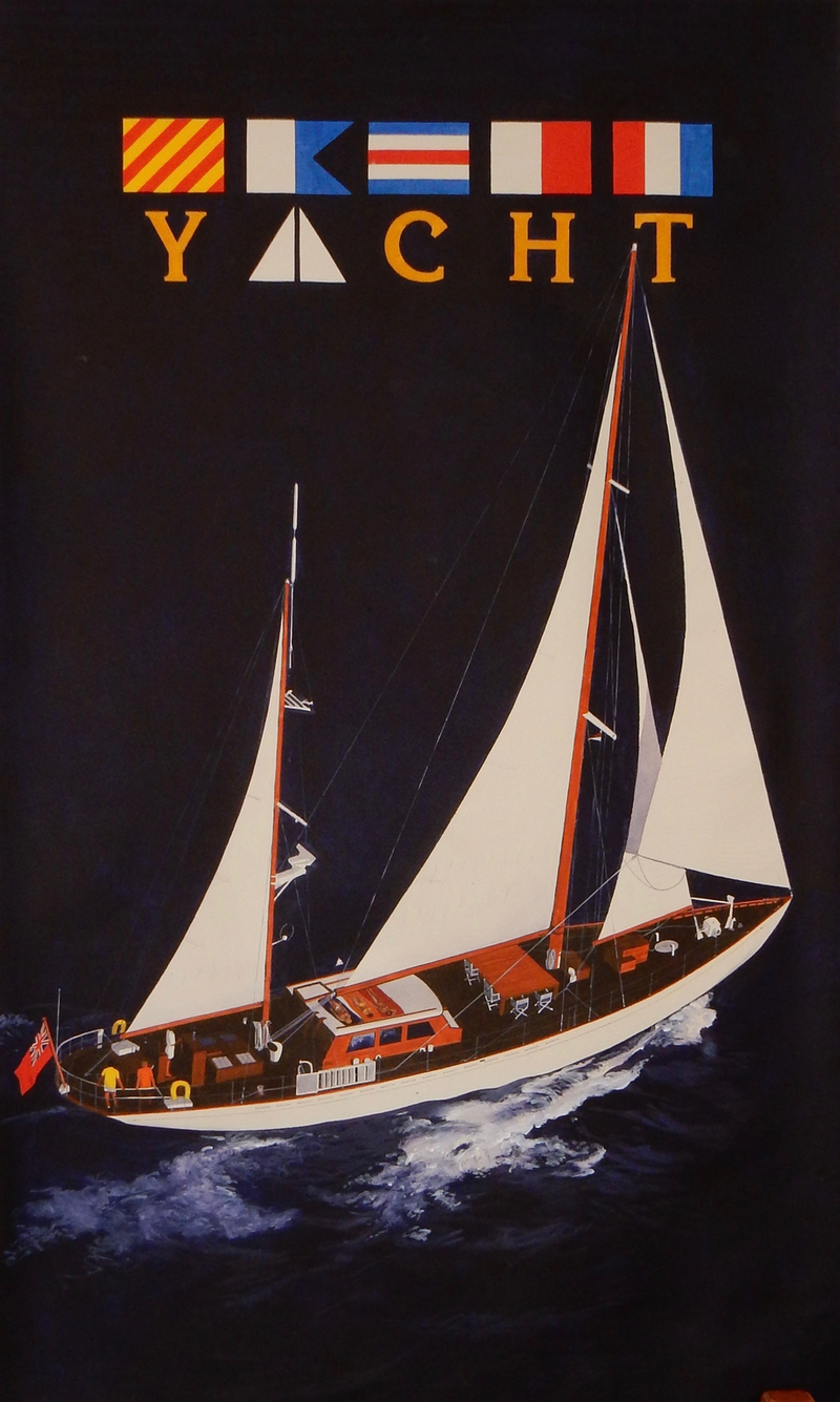 (CreativeWork) Yacht by Lance Ross. arcylic-painting. Shop online at Bluethumb.
