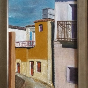 "(CreativeWork) ""Mani"" Greece by Maria Kapodistrias. oil-painting. Shop online at Bluethumb."