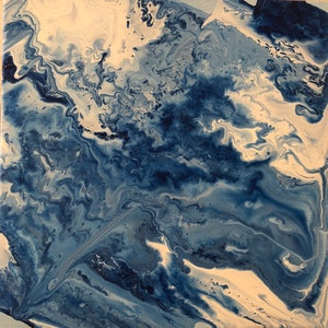(CreativeWork) Floating by Jenn Woodford. arcylic-painting. Shop online at Bluethumb.