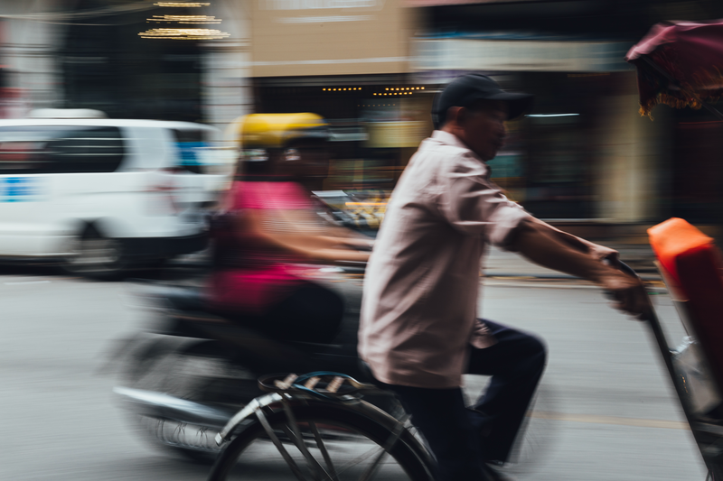 (CreativeWork) Traffic in Vietnam by Megan George. photograph. Shop online at Bluethumb.