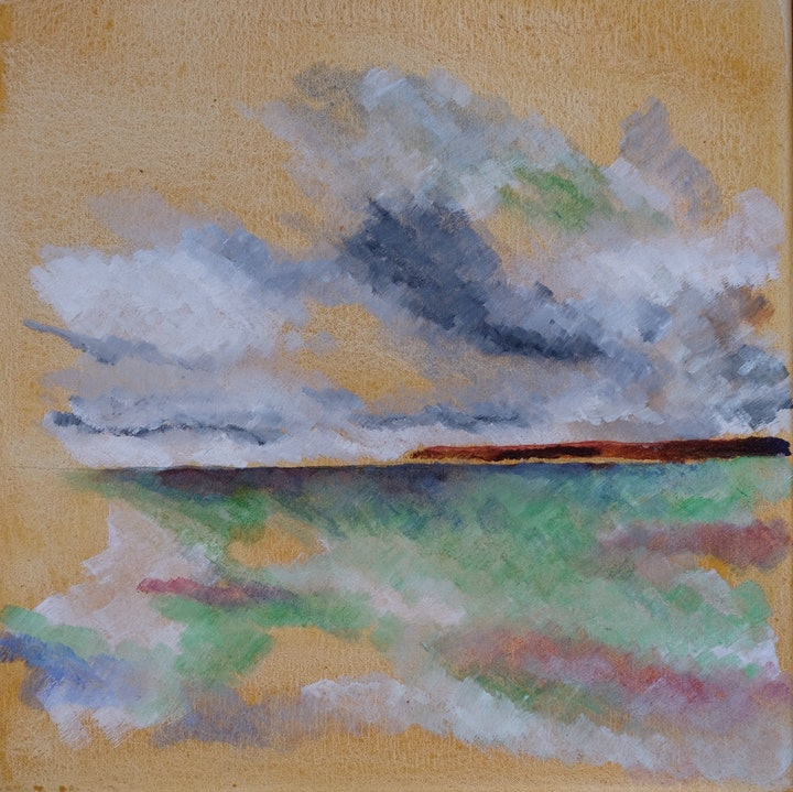 (CreativeWork) Conversation: Looking North From Myponga Beach  by David Hume. arcylic-painting. Shop online at Bluethumb.