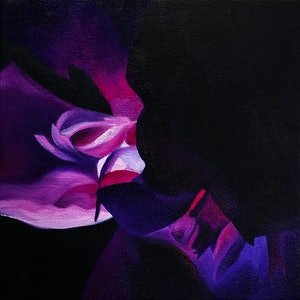 (CreativeWork) Magenta Magic by Kadira Jennings. oil-painting. Shop online at Bluethumb.