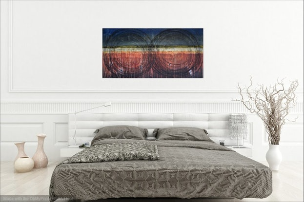 (CreativeWork) Another Dimension by Kitty Berton. Acrylic Paint. Shop online at Bluethumb.
