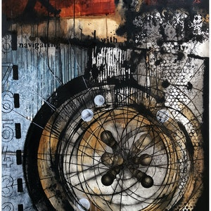 (CreativeWork) WHEEL [2018] by G Kustom Kuhl. mixed-media. Shop online at Bluethumb.