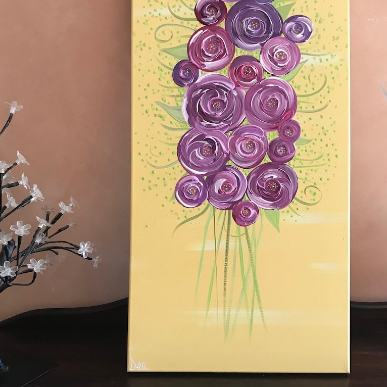 ORIGINAL ABSTRACT ART PAINTING ON STRETCHED CANVAS