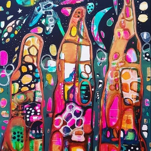 (CreativeWork) NT ANTHILL  COLOR EXPLOSION  by Jojo Harvey. mixed-media. Shop online at Bluethumb.