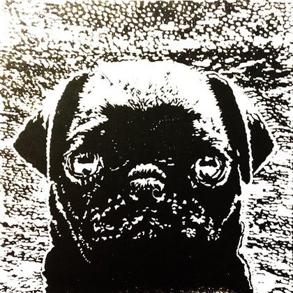 (CreativeWork) Pug Puppy Love  - Certificate of Authenticity  Ed. 1 of 100 by Natasha Scott. print. Shop online at Bluethumb.