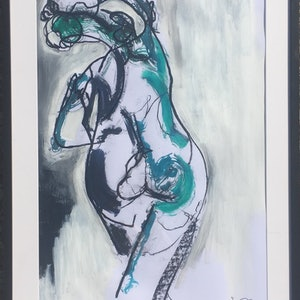 (CreativeWork) Blue Dancer by Joie Swepson. arcylic-painting. Shop online at Bluethumb.