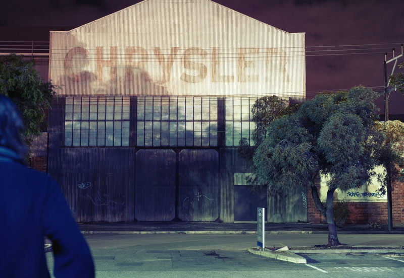 (CreativeWork) Self Portrait with Chrysler by Alex Frayne. photograph. Shop online at Bluethumb.