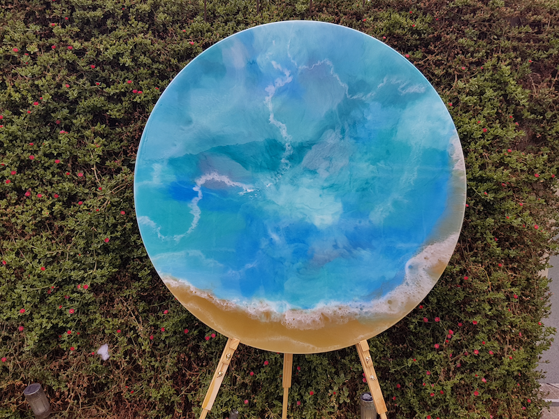 (CreativeWork) Hamilton Island - 80 cm Resin by Stracy Lewis. resin. Shop online at Bluethumb.