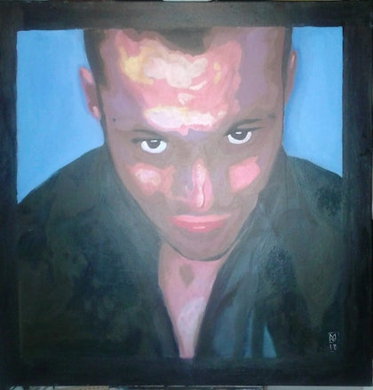 (CreativeWork) He who looks through your bedroom window by Marcus Vernon. arcylic-painting. Shop online at Bluethumb.