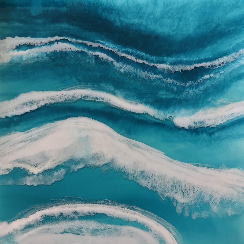(CreativeWork) Wash of the Waves by Martine Vanderspuy. resin. Shop online at Bluethumb.