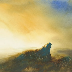 (CreativeWork) Gloaming by Scott Swinson. watercolour. Shop online at Bluethumb.