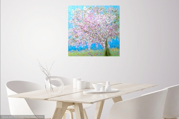 (CreativeWork) Blossom Devine by Suzanne West. Acrylic Paint. Shop online at Bluethumb.