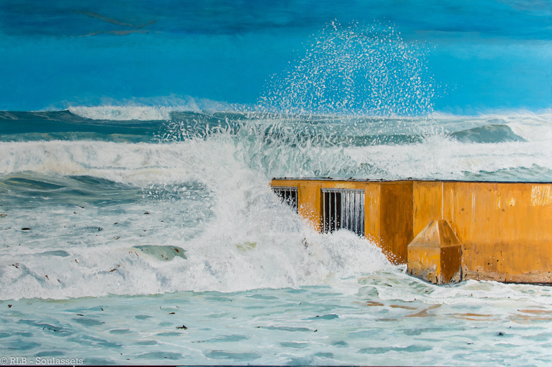 (CreativeWork) Water Storm by Rodney Black. arcylic-painting. Shop online at Bluethumb.