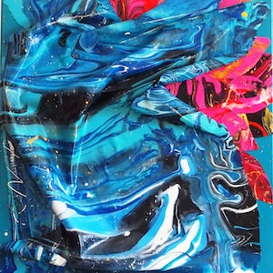 (CreativeWork) UNTITLED by Julee Latimer. arcylic-painting. Shop online at Bluethumb.