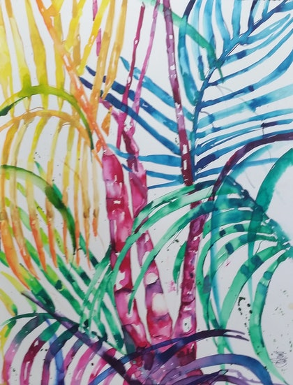 (CreativeWork) From my garden series # 2 by Leanne Kremp. watercolour. Shop online at Bluethumb.