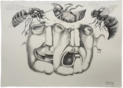 (CreativeWork) Expressions V by Yelena Revis. drawing. Shop online at Bluethumb.