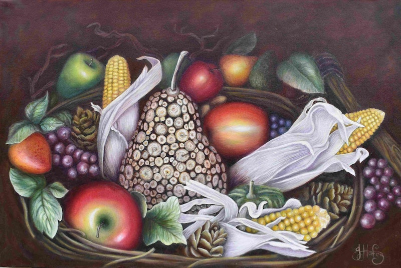 The Fake Fruit Bowl By Janette Hafez Paintings For Sale Bluethumb