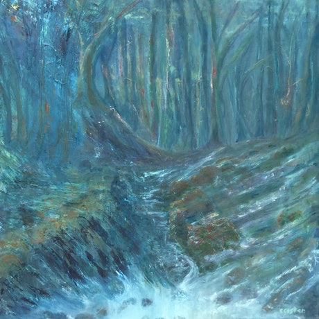 (CreativeWork) Storm surge  by Catherine Coster. Mixed Media. Shop online at Bluethumb.