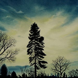 (CreativeWork) Day's End by Doodie Herman. oil-painting. Shop online at Bluethumb.