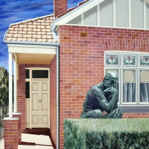 (CreativeWork) Murrumbeena thinking by Geoff Coleman. arcylic-painting. Shop online at Bluethumb.