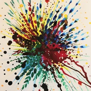 (CreativeWork) Beautiful mess by Deanne Dawes. watercolour. Shop online at Bluethumb.