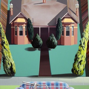(CreativeWork) Murrumbeena hard rubbish by Geoff Coleman. arcylic-painting. Shop online at Bluethumb.