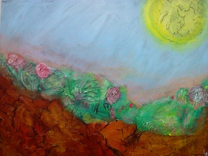 (CreativeWork) The Passing Time  by Lynette Carroll. arcylic-painting. Shop online at Bluethumb.