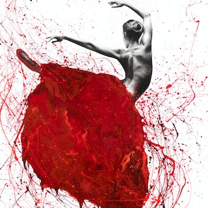 (CreativeWork) Red Opal Dance by Ashvin Harrison. arcylic-painting. Shop online at Bluethumb.