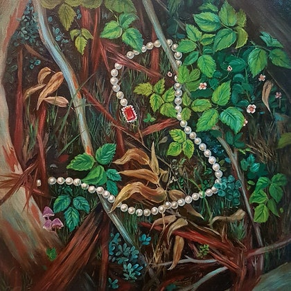(CreativeWork) Found II by Llael McDonald. oil-painting. Shop online at Bluethumb.