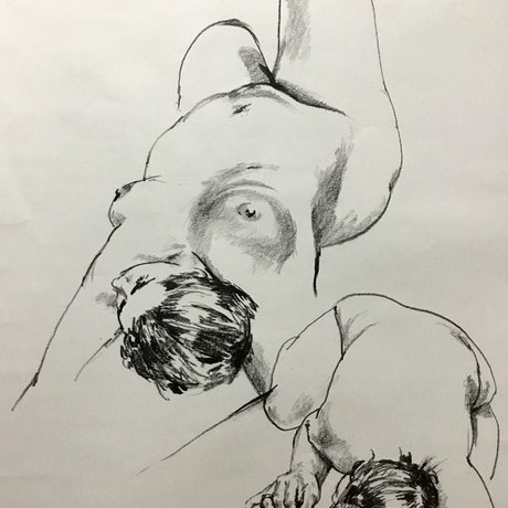(CreativeWork) Two studies of a woman (LD150676) by Geoff Coleman. Drawings. Shop online at Bluethumb.