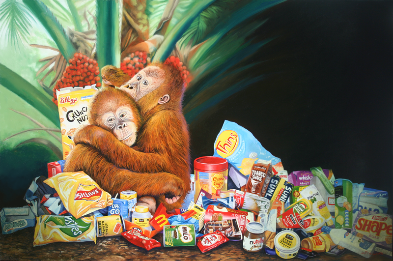 (CreativeWork) Palm Oil and Pollution Ed. 1 of 99 by Jo Frederiks. print. Shop online at Bluethumb.